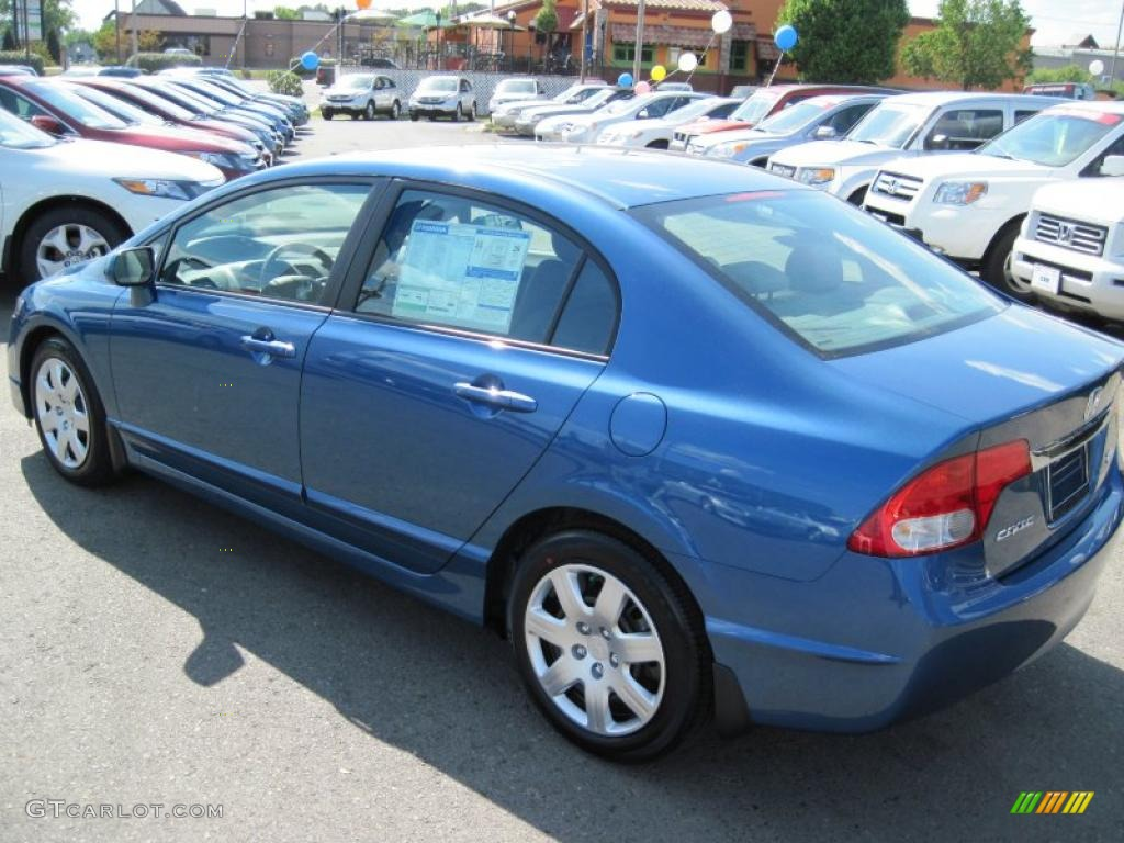 2010 Atomic Blue Metallic Honda Civic Lx Sedan 28595094 Photo 3