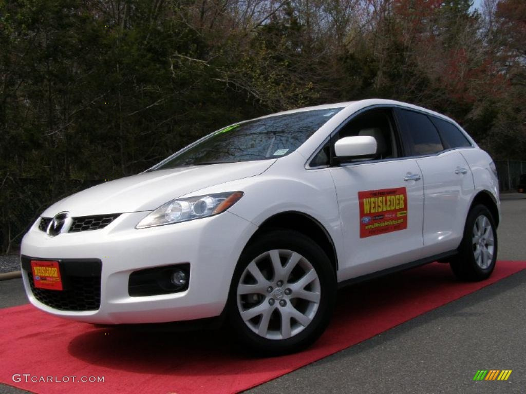 2008 crystal white pearl mica mazda cx 7 grand touring 28594884 car color. Black Bedroom Furniture Sets. Home Design Ideas