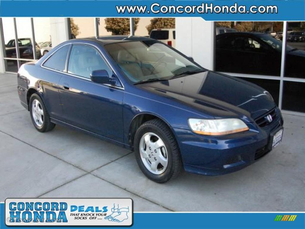 2002 Accord EX Coupe - Eternal Blue Pearl / Ivory photo #1