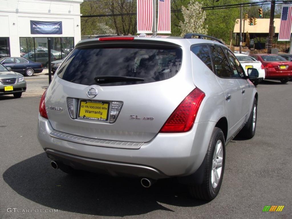 2007 Murano SL AWD - Brilliant Silver Metallic / Charcoal photo #5