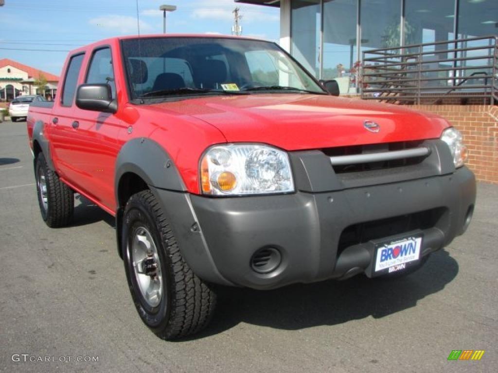 2003 aztec red nissan frontier xe v6 crew cab 4x4 28595385 car color galleries. Black Bedroom Furniture Sets. Home Design Ideas