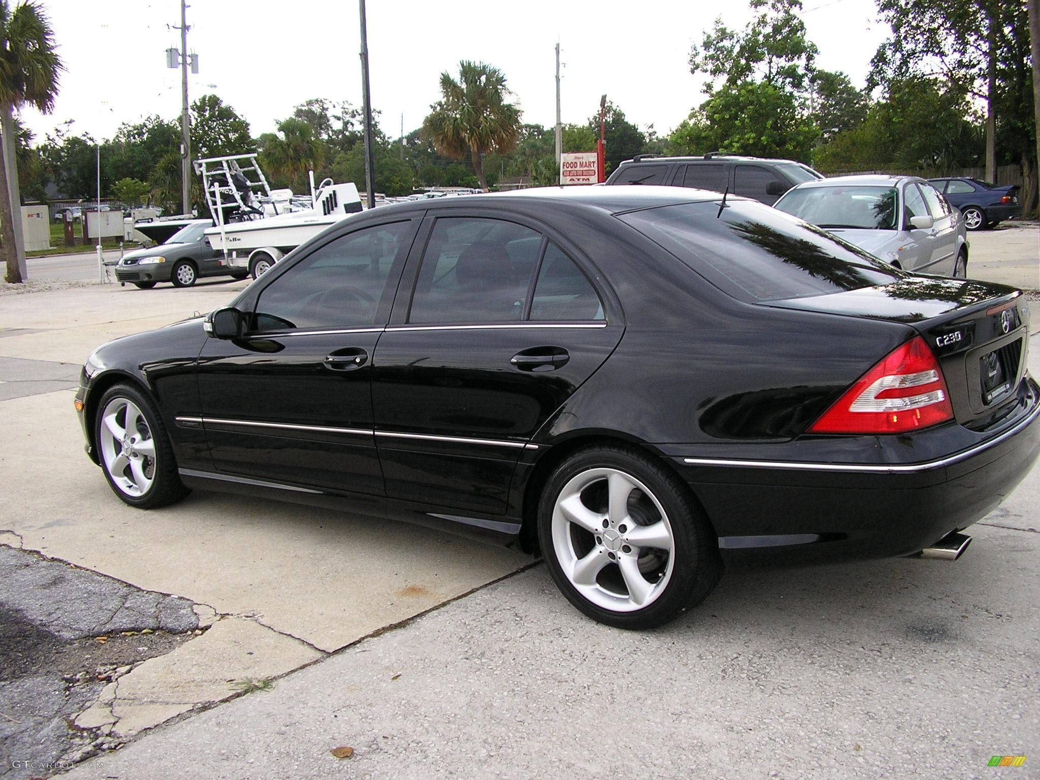 2005 black mercedes benz c 230 kompressor sedan 286623 for Mercedes benz kompressor 2005