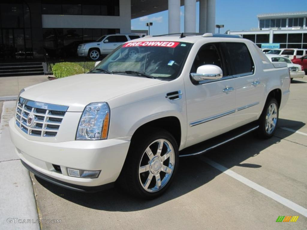 2007 escalade ext awd white diamond ebony ebony photo 1