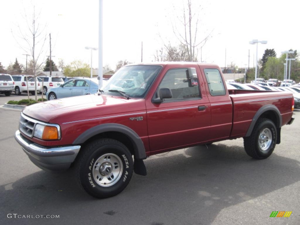 1997 toreador red metallic ford ranger xlt extended cab. Black Bedroom Furniture Sets. Home Design Ideas