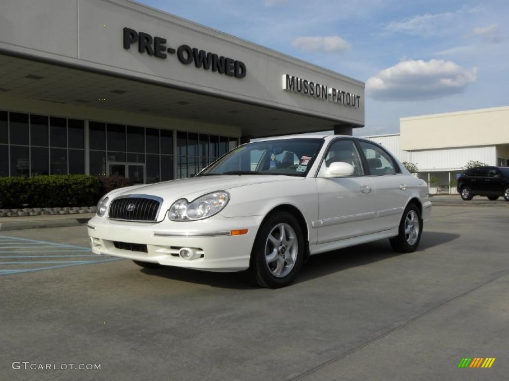 2005 powder white pearl hyundai sonata gls v6 28659288 car color galleries. Black Bedroom Furniture Sets. Home Design Ideas
