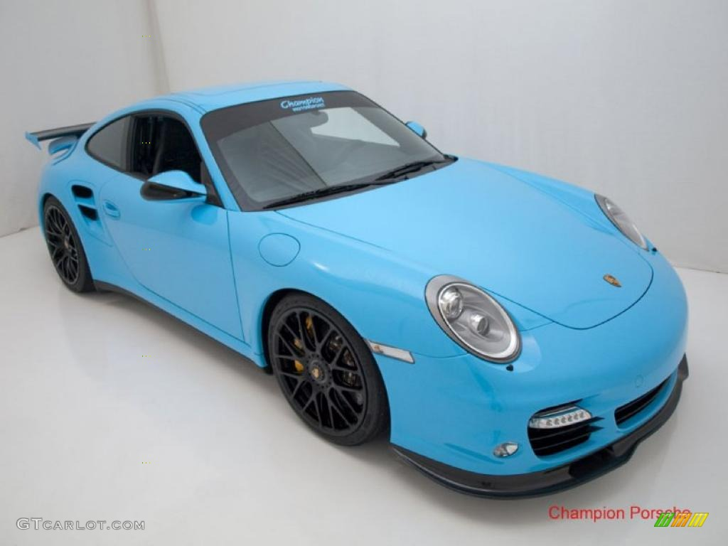 Pearl blue car paint colors - 2010 911 Turbo Coupe Light Blue Paint To Sample Black Photo 21