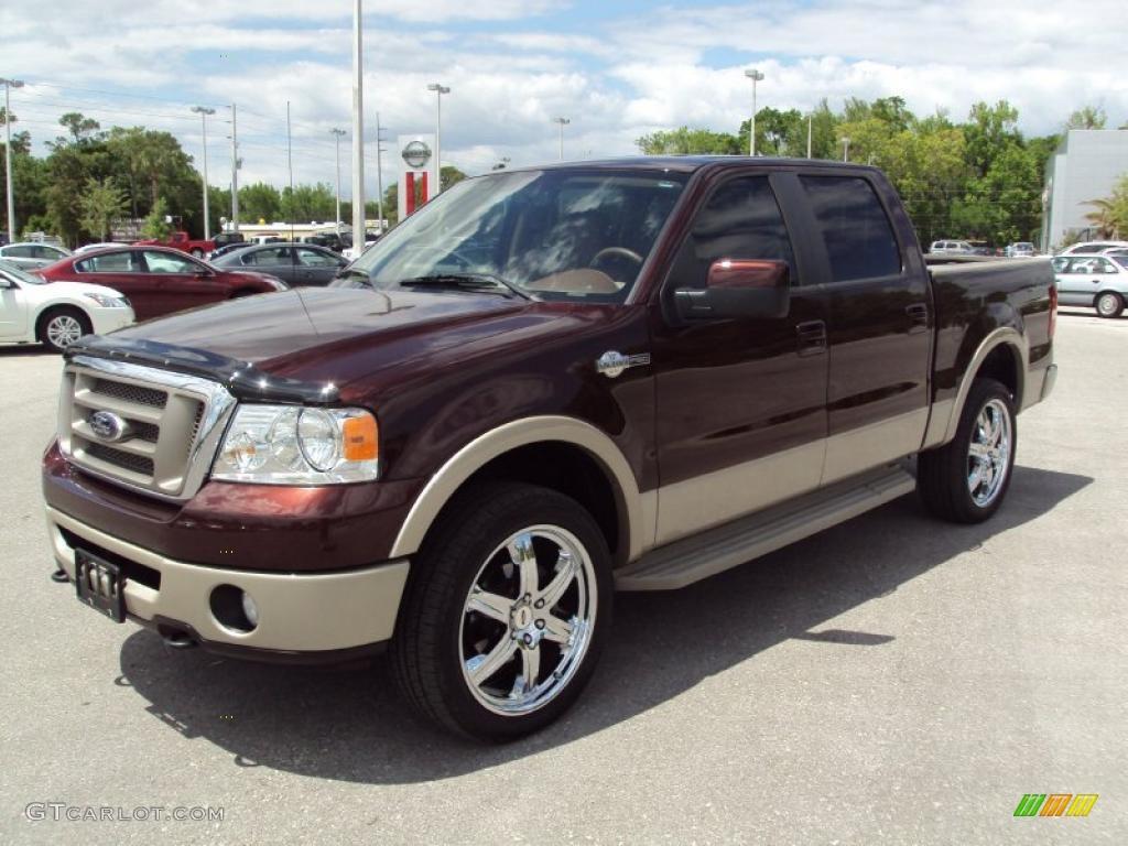 2008 mahogany metallic ford f150 king ranch supercrew 4x4 28659842 car color. Black Bedroom Furniture Sets. Home Design Ideas