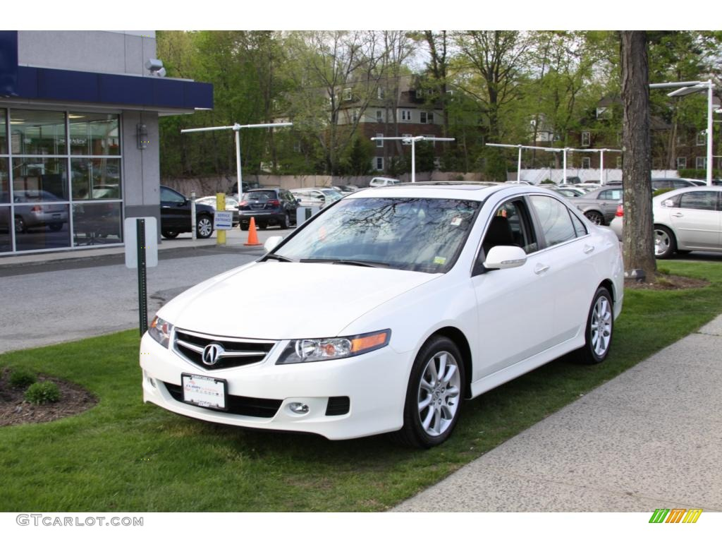 2008 TSX Sedan - Premium White Pearl / Ebony photo #1
