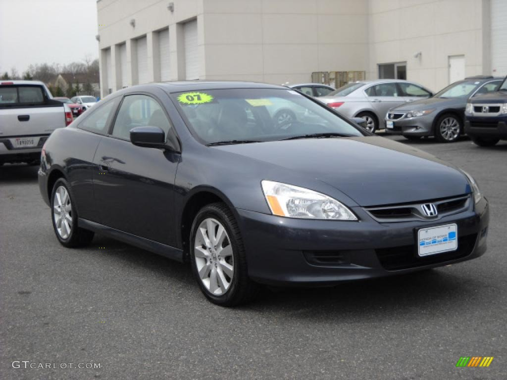 2007 Accord EX V6 Coupe   Graphite Pearl / Black Photo #1