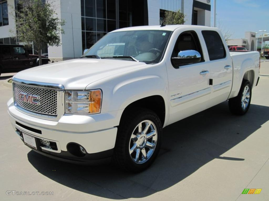 2010 white diamond tricoat gmc sierra 1500 denali crew cab. Black Bedroom Furniture Sets. Home Design Ideas