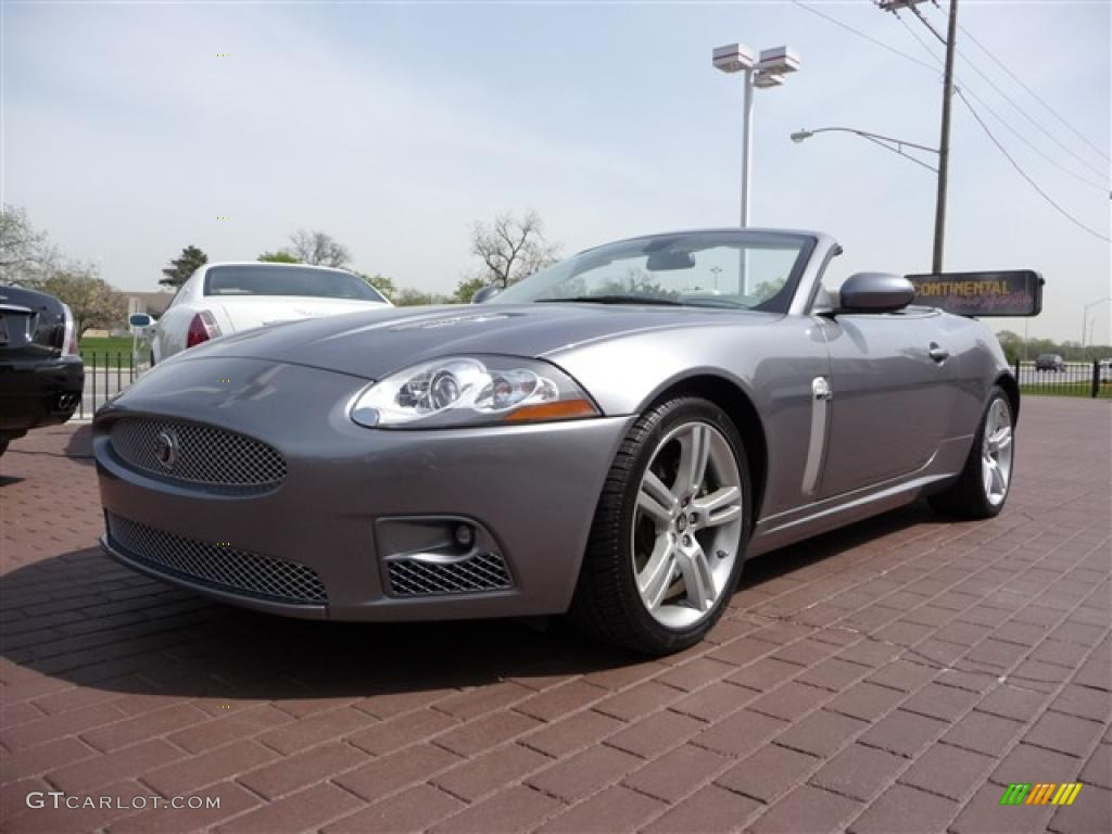 2007 lunar grey metallic jaguar xk xkr convertible. Black Bedroom Furniture Sets. Home Design Ideas