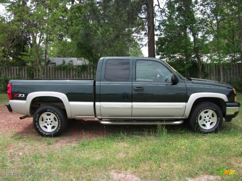 2007 dark green metallic chevrolet silverado 1500 classic. Black Bedroom Furniture Sets. Home Design Ideas