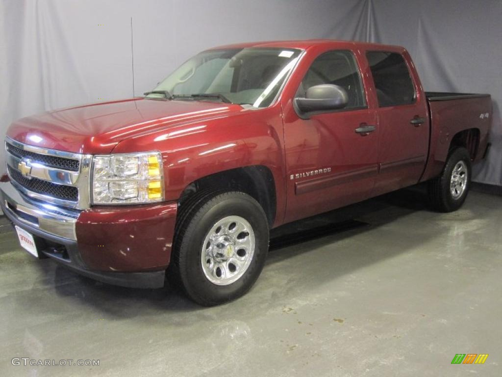 2009 Silverado 1500 LT Crew Cab 4x4 - Deep Ruby Red Metallic / Ebony photo #1