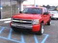2009 Victory Red Chevrolet Silverado 1500 LT Crew Cab  photo #2