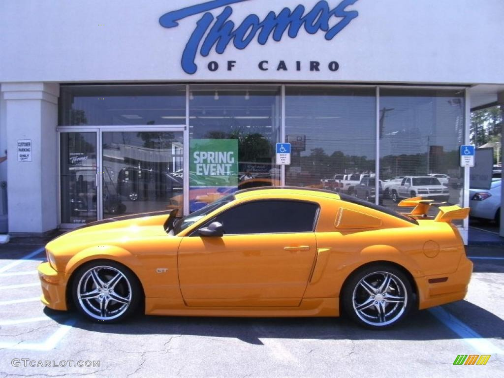 Grabber Orange Ford Mustang