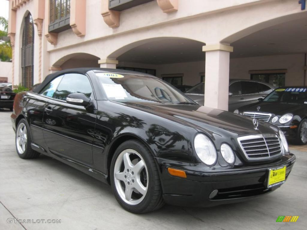 2003 black mercedes benz clk 430 cabriolet 28802024 car color galleries. Black Bedroom Furniture Sets. Home Design Ideas