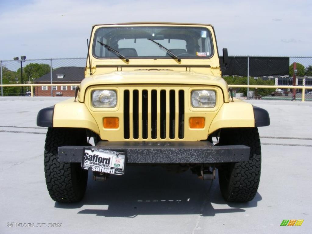 1992 Malibu Yellow Jeep Wrangler S 4x4 28802584 Photo 2