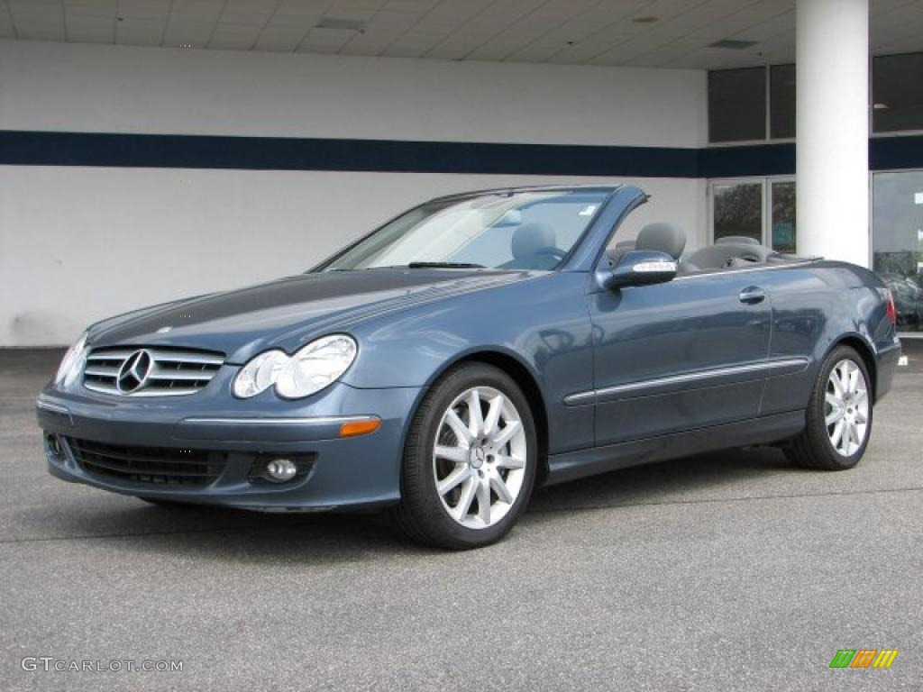 2007 cadet blue metallic mercedes benz clk 350 cabriolet for 2007 mercedes benz clk