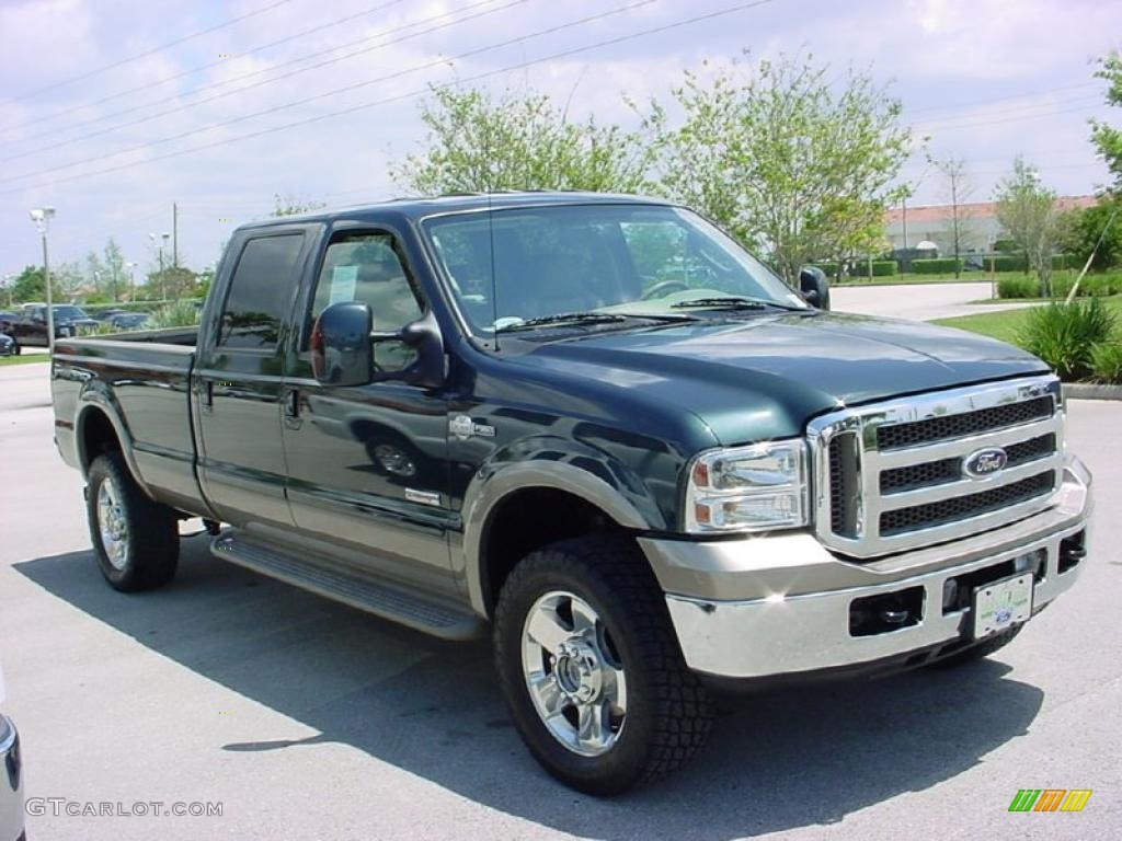 2007 dark green satin metallic ford f350 super duty king. Black Bedroom Furniture Sets. Home Design Ideas