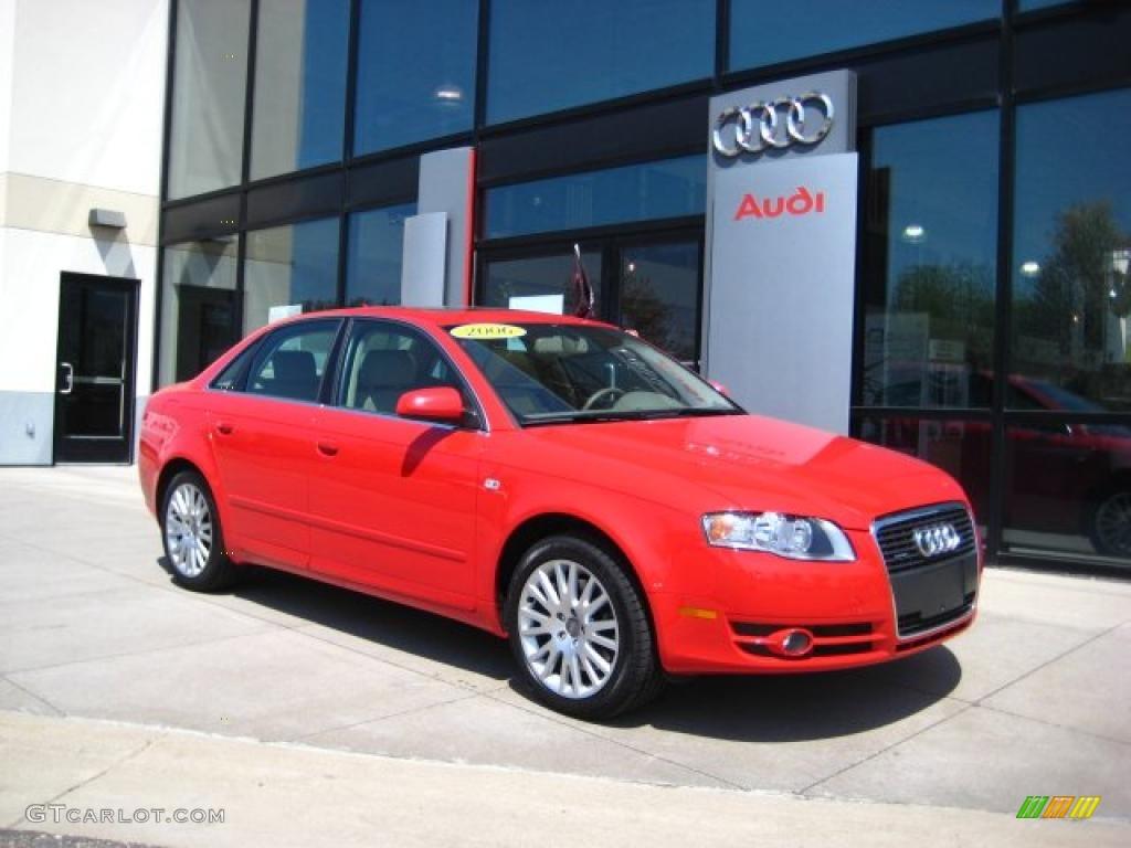 Brilliant Red Audi A4