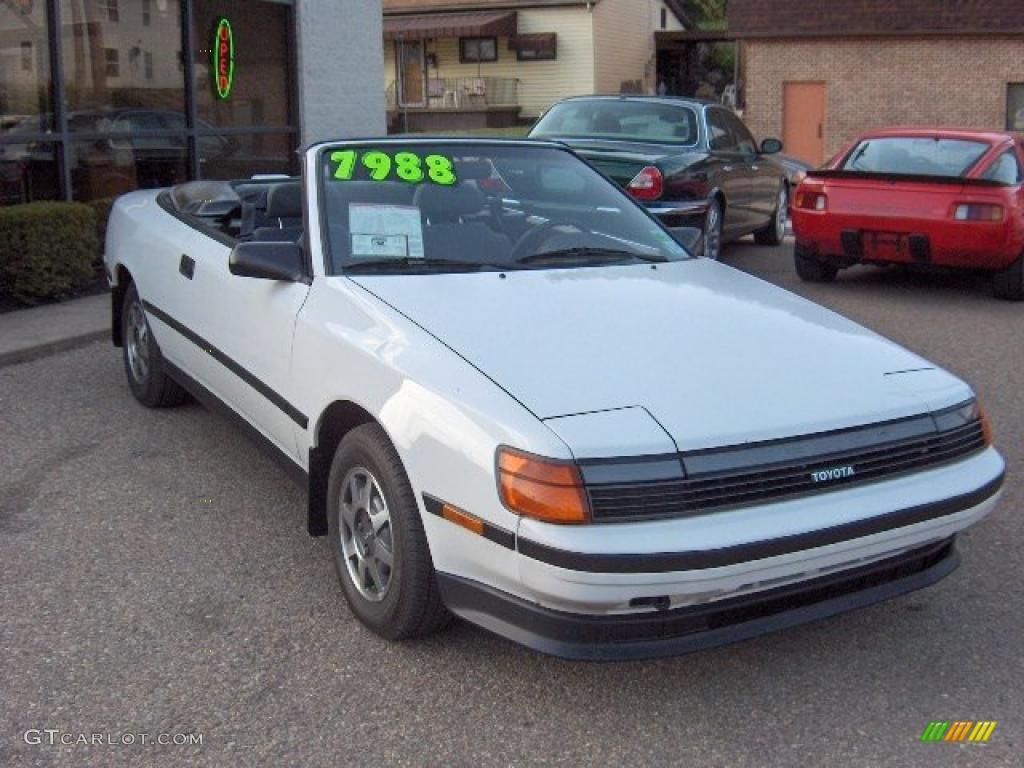 1989 Celica Gt Convertible Super White Gray Black Photo 9