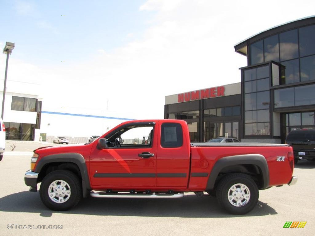 2006 victory red chevrolet colorado z71 extended cab 4x4 28875188 gtcarlot com car color
