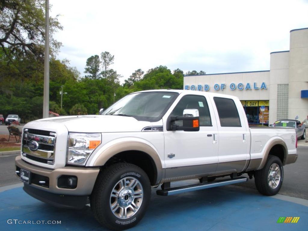 2011 white platinum tri coat metallic ford f350 super duty king ranch crew cab 4x4 28874708. Black Bedroom Furniture Sets. Home Design Ideas