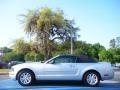 2007 Satin Silver Metallic Ford Mustang V6 Premium Convertible  photo #2