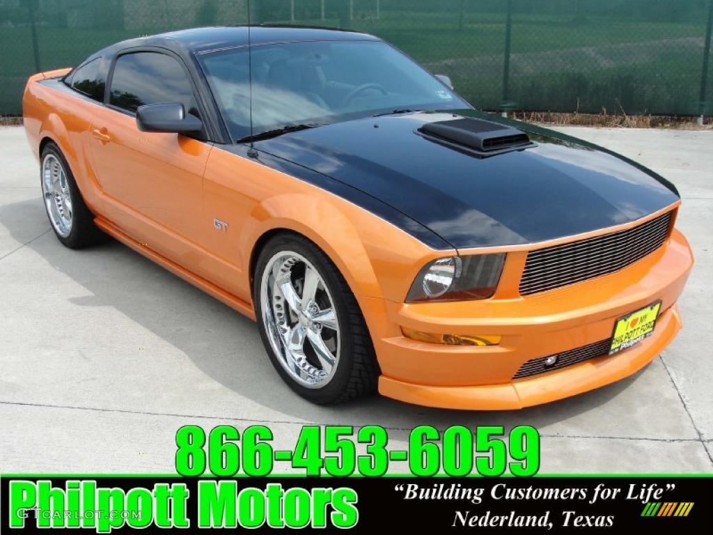 2007 Mustang GT Premium Coupe - Grabber Orange / Light Graphite photo #1