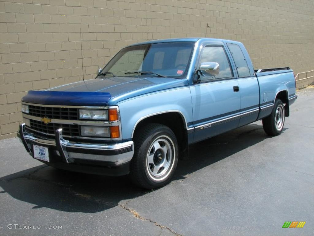 1991 C K C1500 Extended Cab Light French Blue Metallic Photo