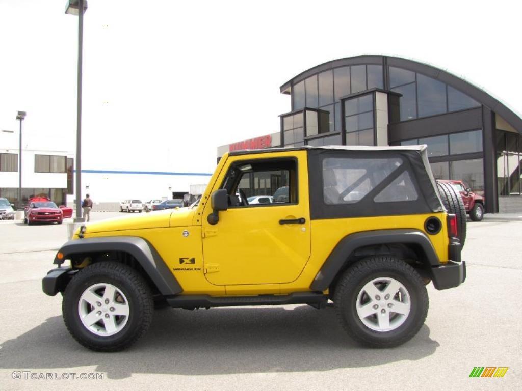 2008 Detonator Yellow Jeep Wrangler X 4x4 28937059 Gtcarlot Com Car Color Galleries