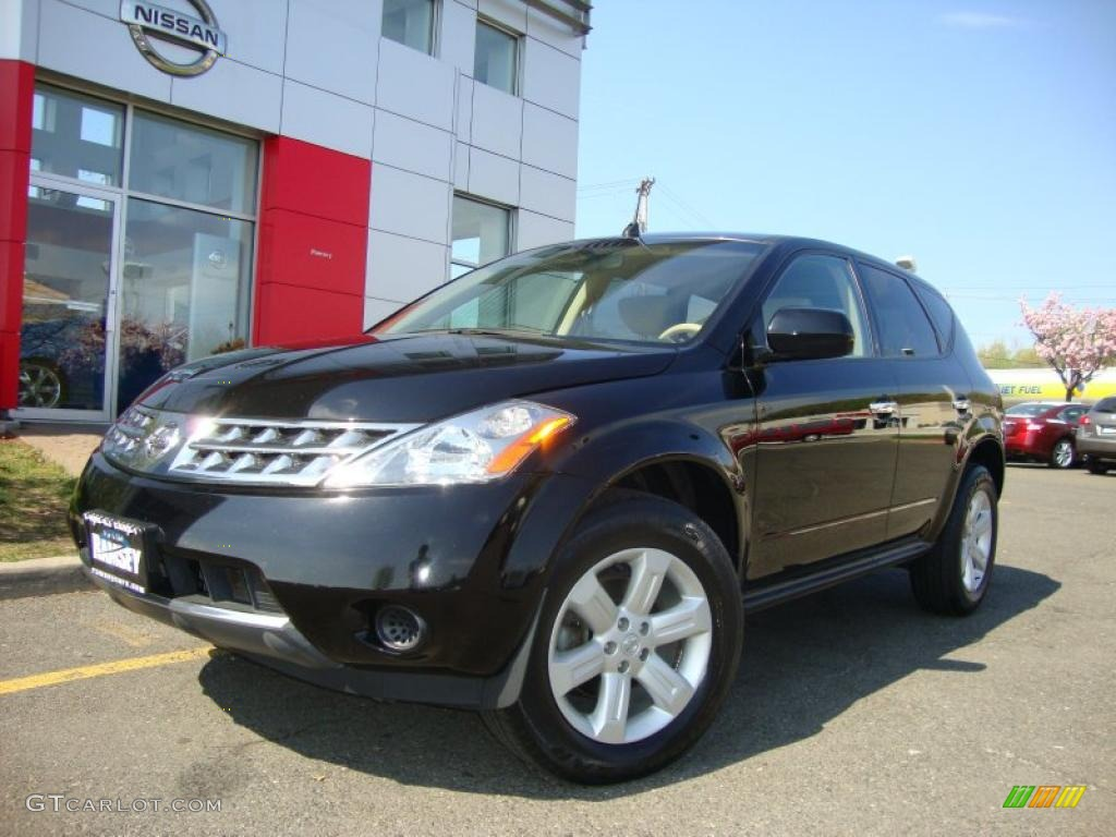 2006 Murano S AWD - Super Black / Cafe Latte photo #1