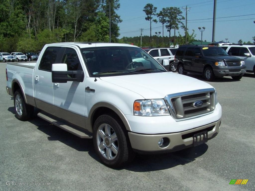 2008 oxford white ford f150 king ranch supercrew 28937095 photo 3 car color. Black Bedroom Furniture Sets. Home Design Ideas