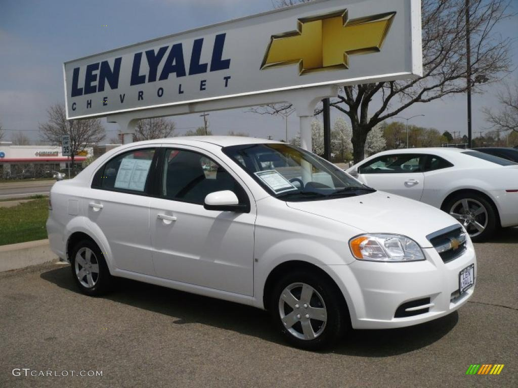 2009 summit white chevrolet aveo lt sedan 28936607 car color galleries. Black Bedroom Furniture Sets. Home Design Ideas