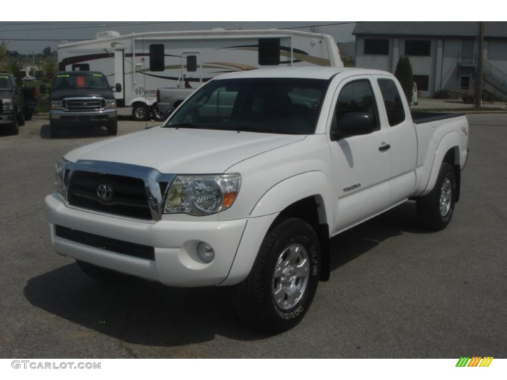 2005 super white toyota tacoma v6 trd access cab 4x4. Black Bedroom Furniture Sets. Home Design Ideas