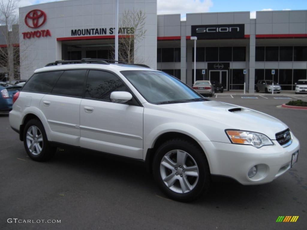 2006 satin white pearl subaru outback 2 5 xt limited wagon 29004472 car color. Black Bedroom Furniture Sets. Home Design Ideas