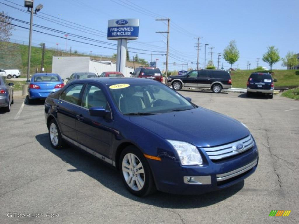 2007 Dark Blue Pearl Metallic Ford Fusion Sel 29004691