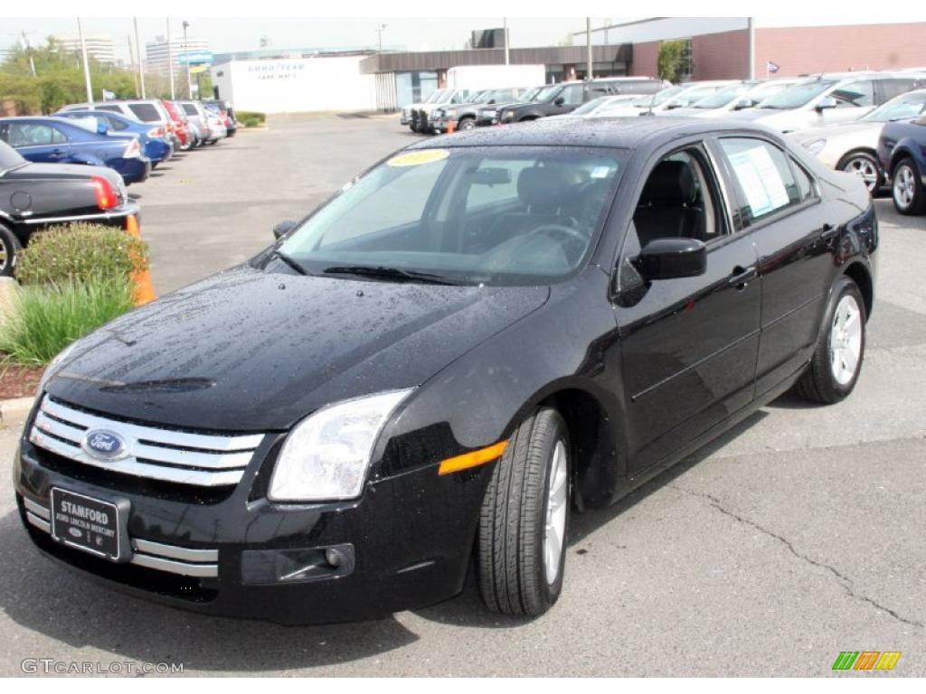 2007 black ford fusion se v6 awd 29004540. Black Bedroom Furniture Sets. Home Design Ideas