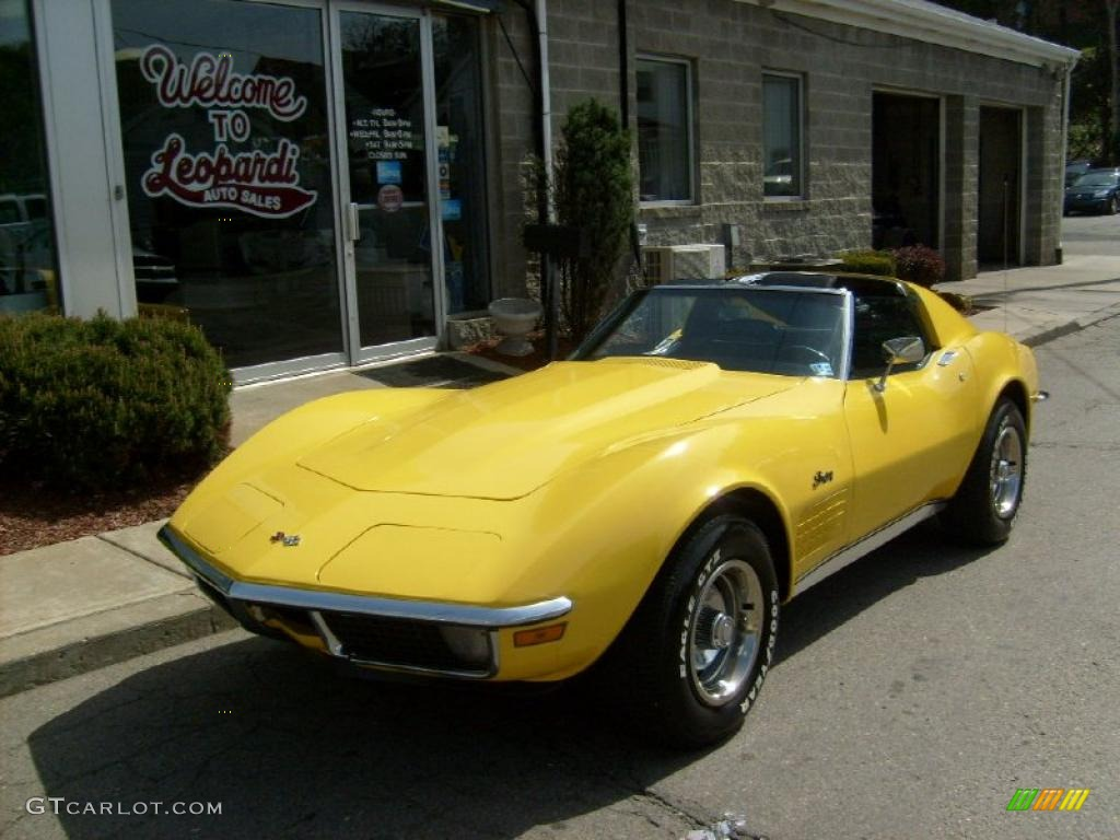 1970 Daytona Yellow Chevrolet Corvette Stingray Sport Coupe ...