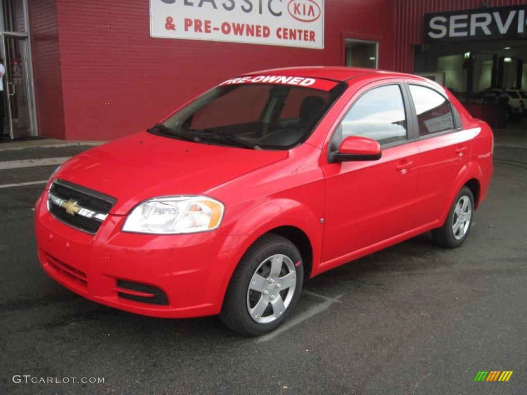2009 Victory Red Chevrolet Aveo LT Sedan 29097599  GTCarLotcom