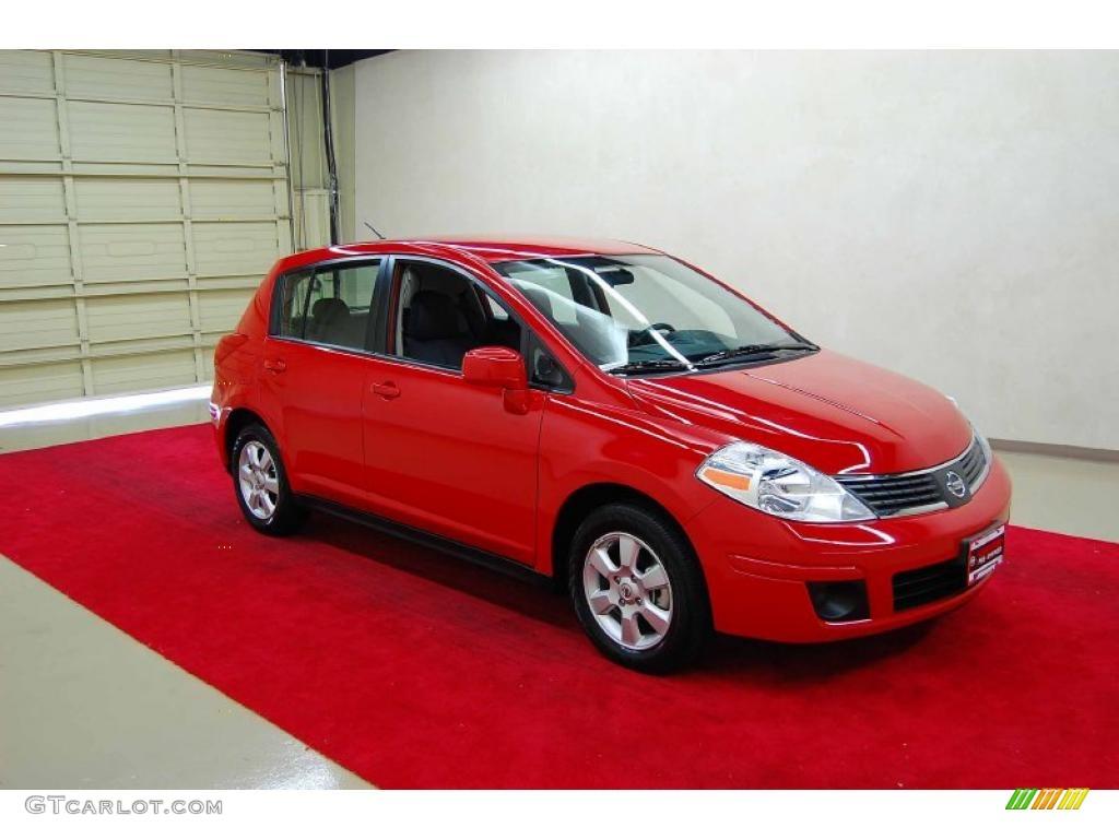 2009 red alert nissan versa 1 8 sl hatchback 29097393. Black Bedroom Furniture Sets. Home Design Ideas