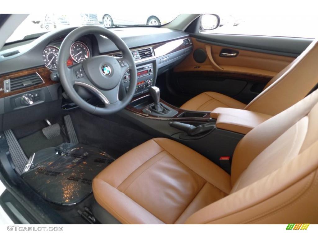 Saddle Brown Dakota Leather Interior 2010 BMW 3 Series 328i XDrive Coupe Photo 29189743
