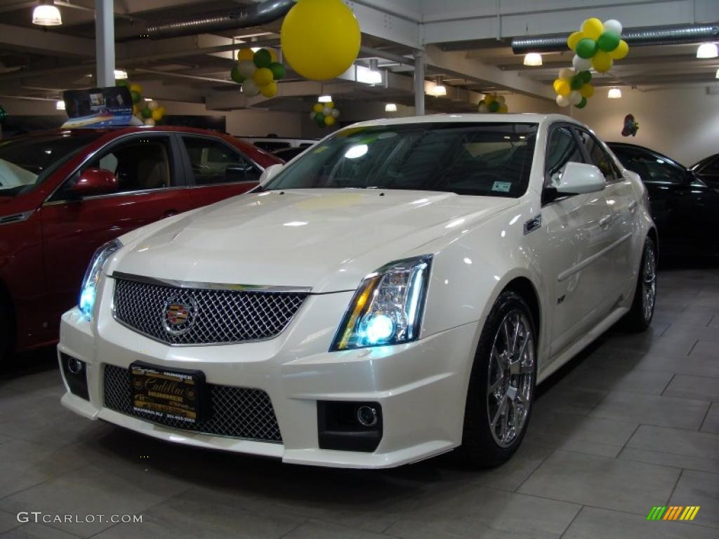 2009 white diamond tri coat cadillac cts v sedan 29137532 car color galleries. Black Bedroom Furniture Sets. Home Design Ideas