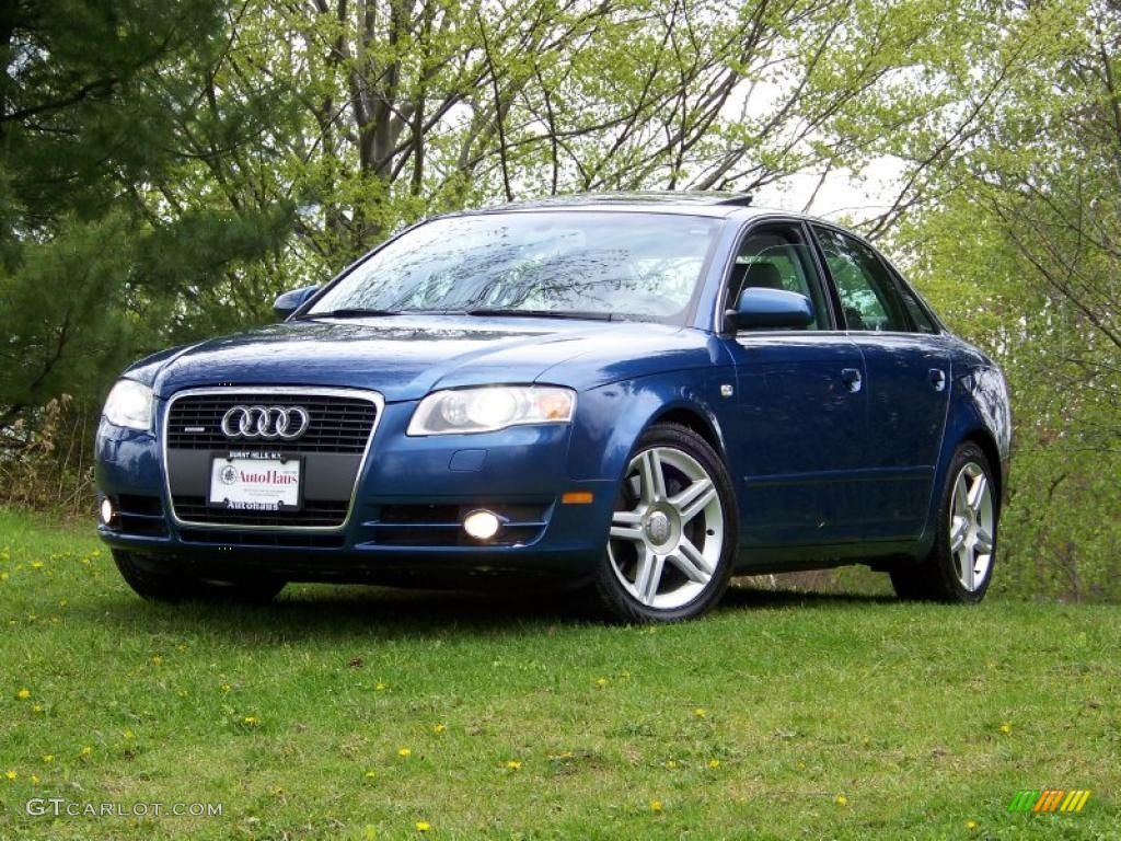 2005 ocean blue pearl audi a4 2 0t quattro sedan 29201516. Black Bedroom Furniture Sets. Home Design Ideas