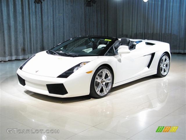2007 Balloon White Lamborghini Gallardo Spyder E Gear 292263