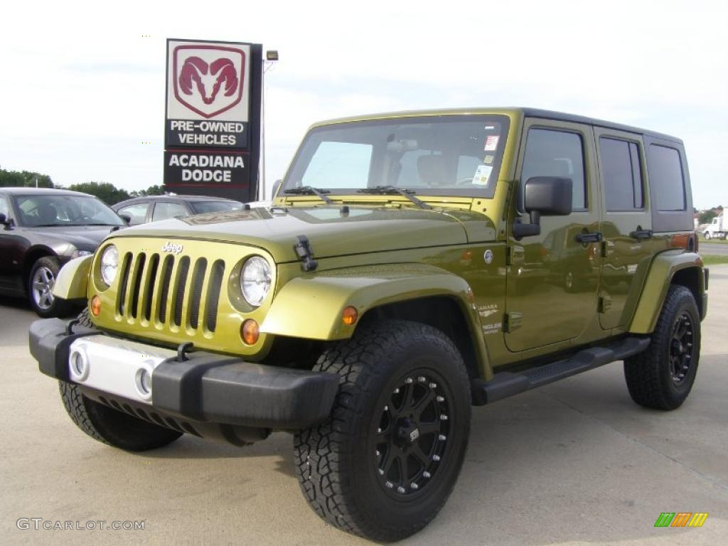 Rescue Green Jeep >> 2008 Rescue Green Metallic Jeep Wrangler Unlimited Sahara 4x4 #29201236 | GTCarLot.com - Car ...