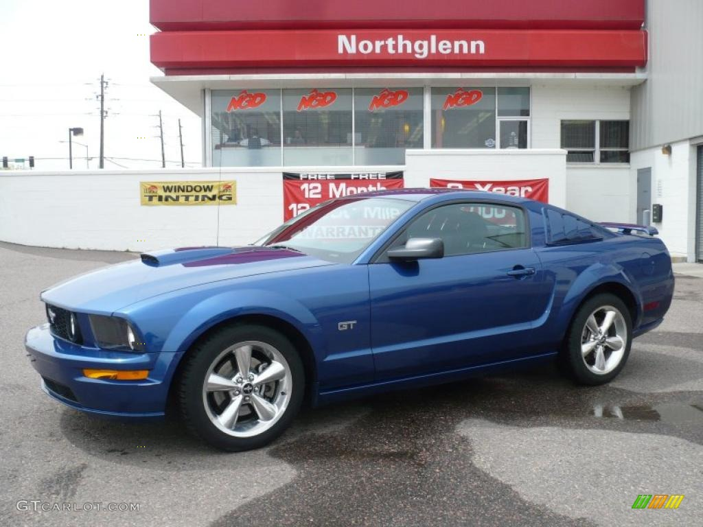 2007 Mustang GT Premium Coupe - Vista Blue Metallic / Dark Charcoal photo #1