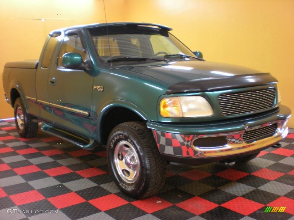 1997 pacific green metallic ford f150 xlt extended cab 4x4. Black Bedroom Furniture Sets. Home Design Ideas