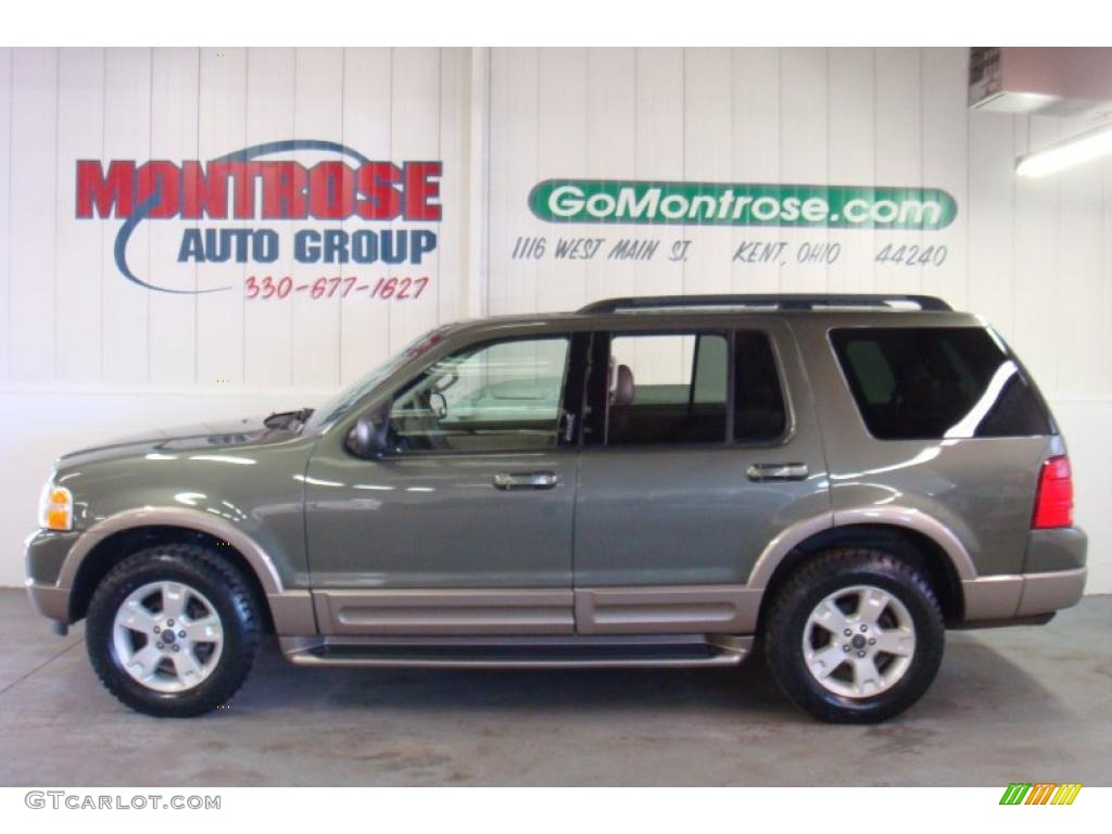 2003 Explorer Eddie Bauer 4x4 - Estate Green Metallic / Medium Parchment Beige photo #1