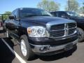 2008 Brilliant Black Crystal Pearl Dodge Ram 1500 SLT Quad Cab 4x4  photo #3